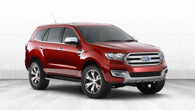 Some speculate that the Ford Everest, made in Australia, could be the basis for the resurrection of the Ford Bronco nameplate in the U.S. This concept version of the Everest was shown Ford showcased the new Ford Everest Concept at the Bangkok International Auto Show in 2014.