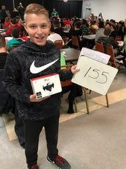 Karson Lajti, of Oak Harbor Middle School, won a drone