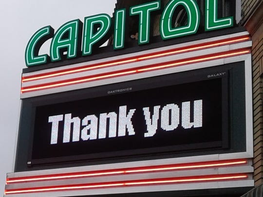 Today's Capitol Theatre marquee with its digital technology