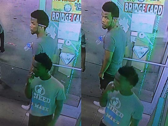 Surveillance images of two suspects who allegedly carjacked a 28-year-old man early Friday on the city's west side.