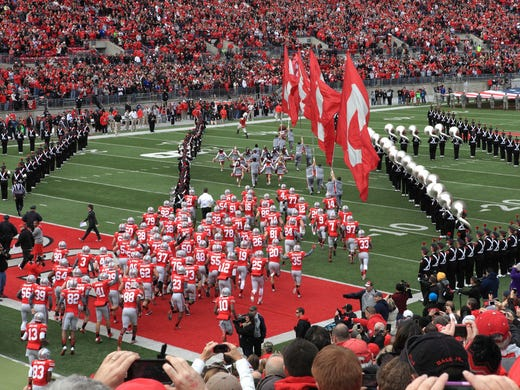 college game day football ohio hosts state decide atmosphere rivalry michigan buckeyes wolverines columbus biggest between games
