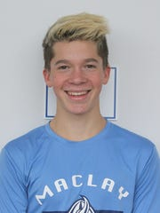 Maclay swimmer Wade Eastman was named to the 2017 All-Big Bend boys swimming and diving first team after scoring at his state meet.