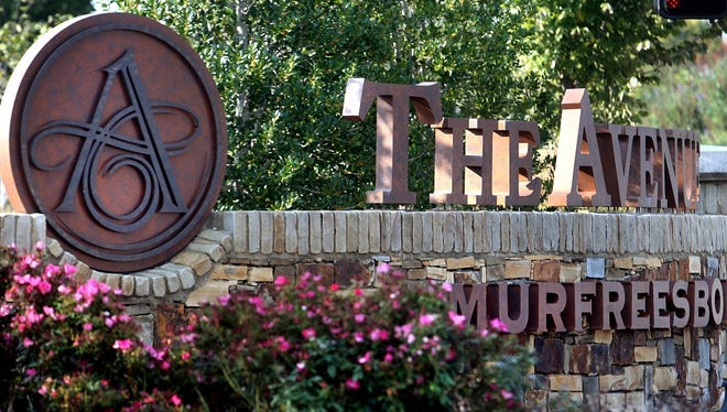 This sign marks the entrance to The Avenue Murfreesboro, on Thursday Oct. 4, 2012.