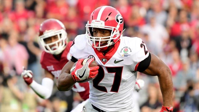 Georgia running back Nick Chubb