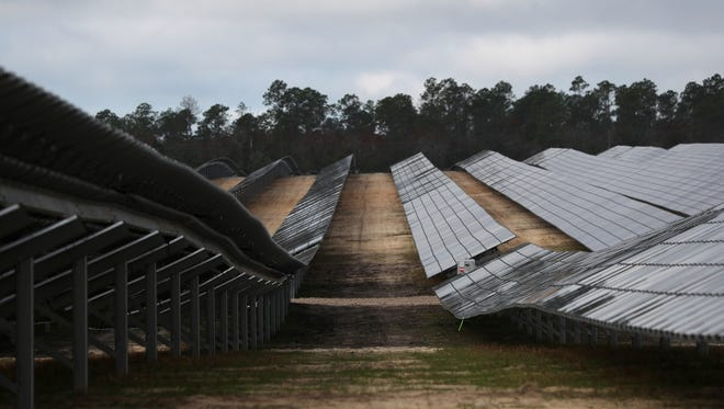 Phase one of the city of Tallahassee's solar project is completed, slated to begin generating the 20 megawatts of power which will feed into the local grid starting on Jan 1, 2018.