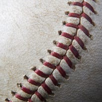 Stitches in a baseball