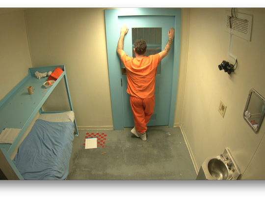 Filmmaker James Burns entered himself into solitary confinement Dec. 12, 2016, at the La Paz County Jail in Arizona.