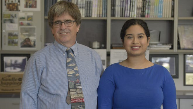 Ben Davis High teacher Tom Hayes and recent graduate Evelyn Sanchez were recently honored with national awards.