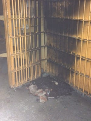 Inmates set a fire that caused an evacuation of the Henry County Jail early Wednesday, Aug. 3, 2016.