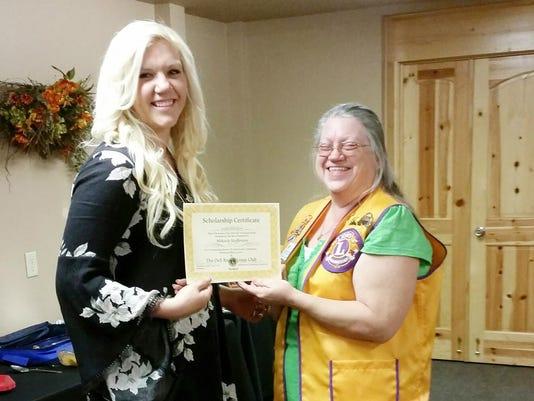SFA 0518 DR Lions club scholarship