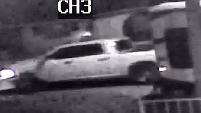 The El Paso Police Department is searching for a large white pickup believed to have been involved in a fatal hit-and-run Oct. 11 in Northeast El Paso.