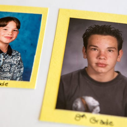 Family photos show Jeremy Kossek in fifth and eighth