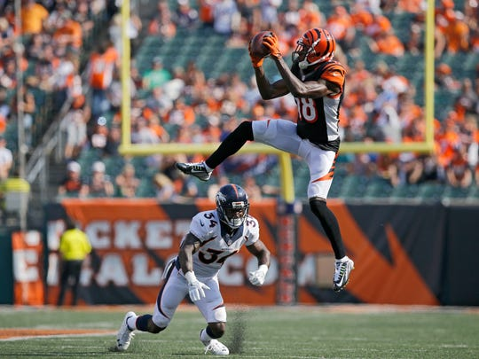 Cincinnati Bengals wide receiver A.J. Green (18) makes