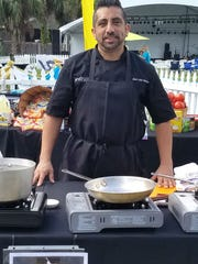 Chef Aldo Ramirez of Spritz City Bistro recently compete din Stuart Chopped! at ArtsFest in Stuart.