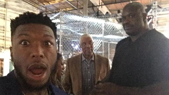 Nate Robinson was with some of the Inside the NBA crew