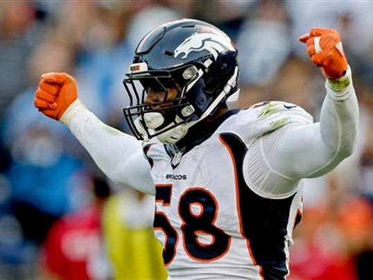 Broncos Place Exclusive Franchise Tag On Miller