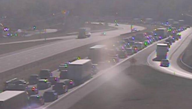 A crash shutdown lanes of Interstate 275 Friday afternoon.