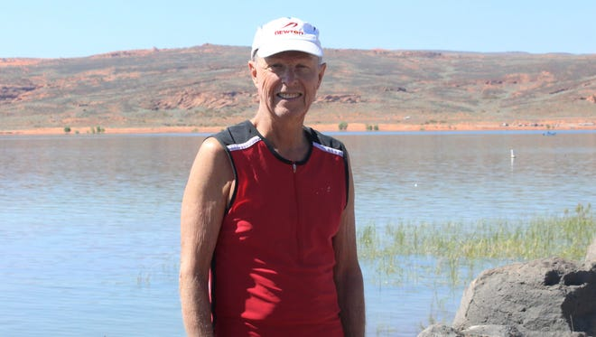 Eighty-year-old John Holman III of San Diego will be the oldest competitor to begin the 2018 St. George Ironman on May 5, 2018, at Sand Hollow State Park.