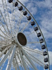 The Centennial Wheel's enclosed compartments are climate