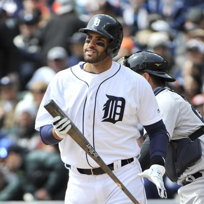 Tigers slugger J.D. Martinez likely will start the
