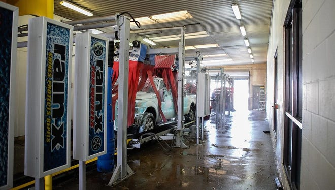A truck is washed at All American Super Car Wash in Wichita Falls. Business owner Larry Ayers almost had to shut down in 2015 due to a devastating drought and tightened water restrictions.