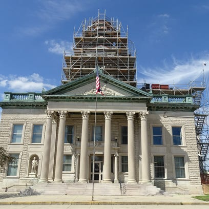 The $1.4 million restoration project to the dome on
