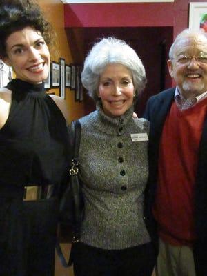 Erica Hanrahan-Ball with CVRep Board Members Merrily Byron and Sid Craig.