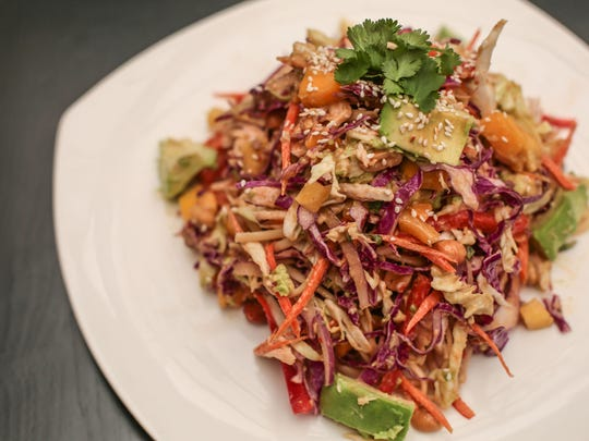 The Thai noodle salad prepared by the chefs at Fortun's Kitchen and Bar in La Quinta on Thursday, February 9, 2017.