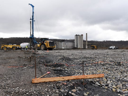 Grow Ohio's facility in Newtown Township is under construction. The marijuana grow site is expected to be completed this summer.