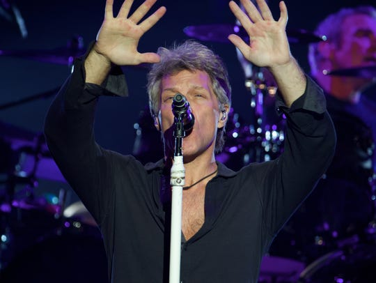 Jon Bon Jovi of the band Bon Jovi Saturday, Oct. 1