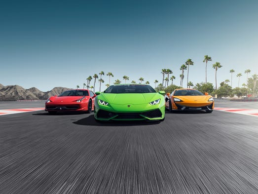 Exotic Car Race Track Los Angeles