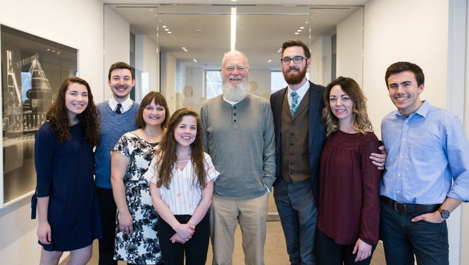 A group of seven Ball State journalism and telecommunications students traveled to New York City to interview alumnus David Letterman Thursday.
