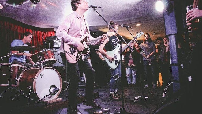 Surfer Blood performing on a live Yahoo video webcast during a show in Pheonix.