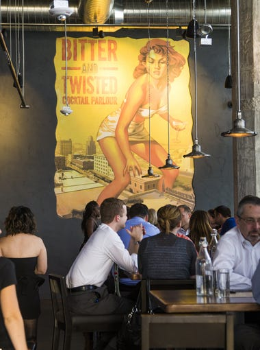 Bitter and Twisted is located on Jefferson Street and Central Avenue in the historic Luhrs building in downtown Phoenix.