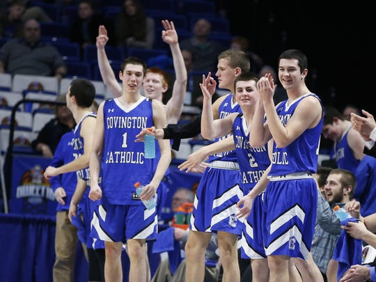 Covington Catholic players, including high scorer C.J.