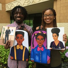 Couple makes notebooks to inspire black children