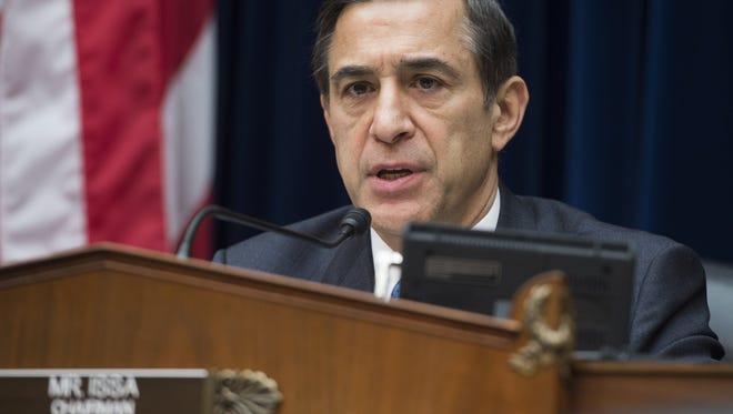 U.S. Rep. Darrell Issa on Capitol Hill in Washington, DC, December 9, 2014.