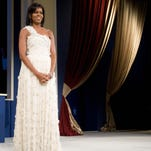 During the Midatlantic Regional Inaugural Ball at the Washington Convention Center in Washington, D.C., on Jan. 20, 2009. Designer Jason Wu donated the gown, which is now in the Smithsonian.