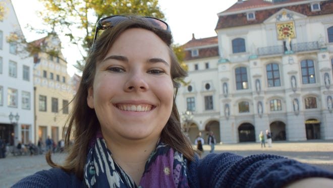 UNR senior Sarah Maier poses for a selfie in Lüneburg, Germany last semester. Maier will return to Germany this month. She said world terrorism fears didn't affect her decision to study abroad.