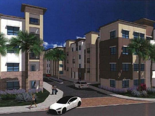 Kaplan Management Co. plans to build a four-story complex