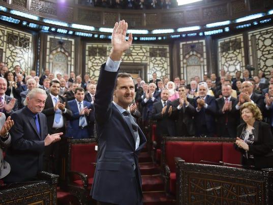 EPA SYRIA BASHAR PARLIAMENT POL GOVERNMENT PARLIAMENT SYR SY