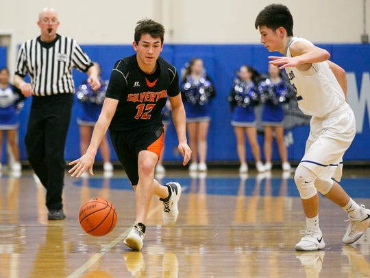 Silverton junior point guard David Gonzales (No. 12) is averaging 16.3 pointers per game and a team-high 4.0 assists.