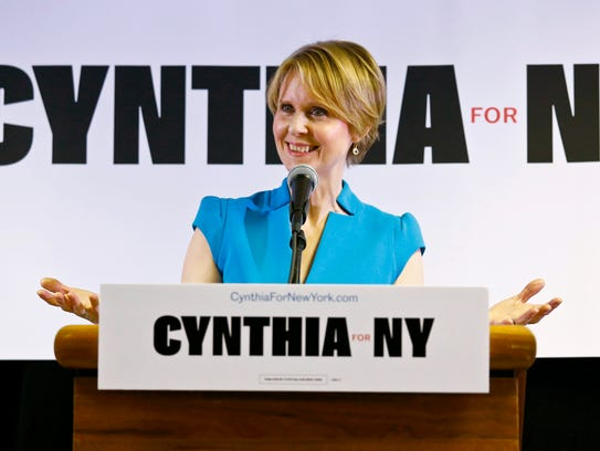 In this March 20, 2018 file photo, New York candidate