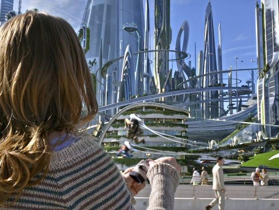 Casey (Britt Robertson) finds herself in 'Tomorrowland.'