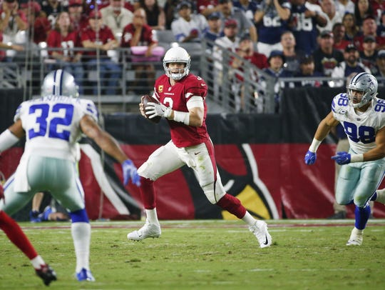 Carson Palmer finished with 325 yards and 2 touchdown