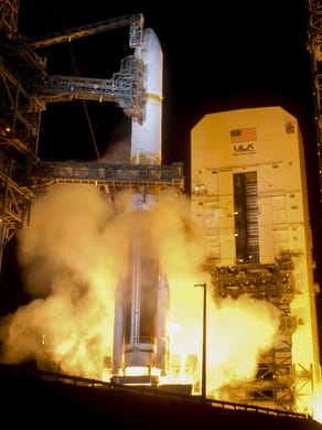 A United Launch Alliance takes off the Delta IV rocket