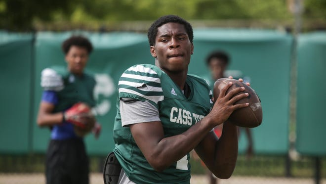 """Cass Tech quarterback Rodney Hall got injured during the playoffs last year and missed the state championship game. """"I couldn't help but think that I'm not playing in the game and this is what we play football for,"""" he said."""