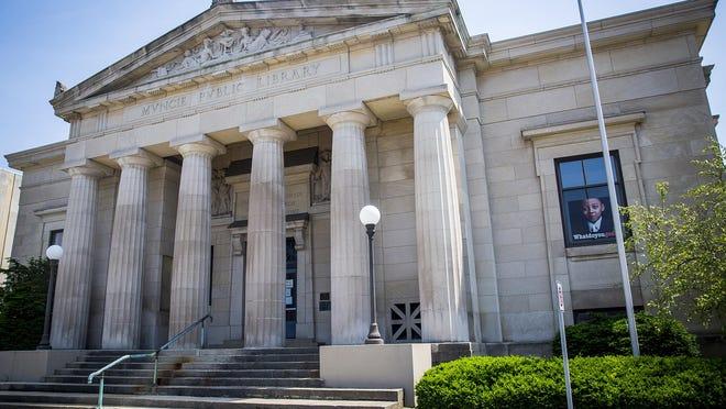 Carnegie Library in downtown Muncie.