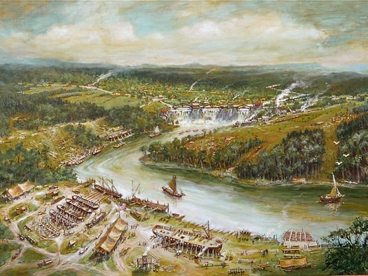 Navy Shipyard at Vergennes, 1814 conjectural.jpg