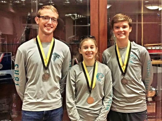 The Jensen Beach High School Falcons Sailing Team placed third in the Silver Fleet at the Great Oaks Invitational national two-day regatta in New Orleans. Congratulations to skipper Hunter Sorensen, and two crew members, Chloe Hudgins and Jaxson Stehlin.
